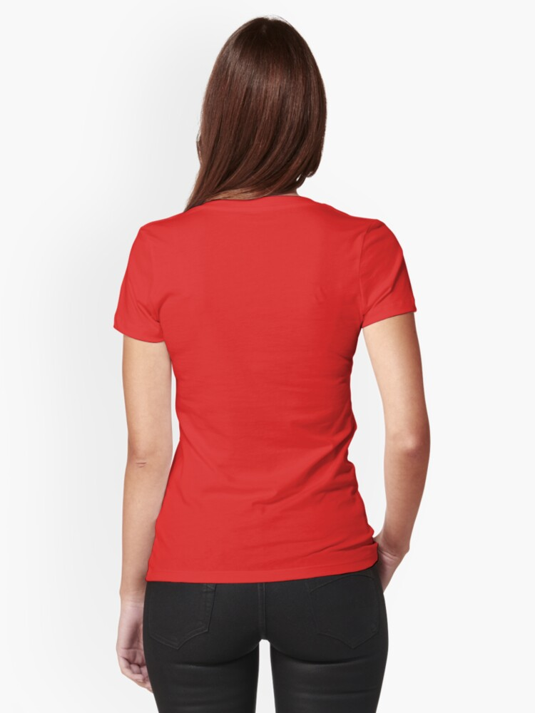 Alternate view of Little Red Capuccine Fitted T-Shirt