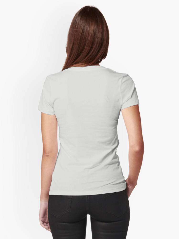 Alternate view of blue bird Fitted T-Shirt