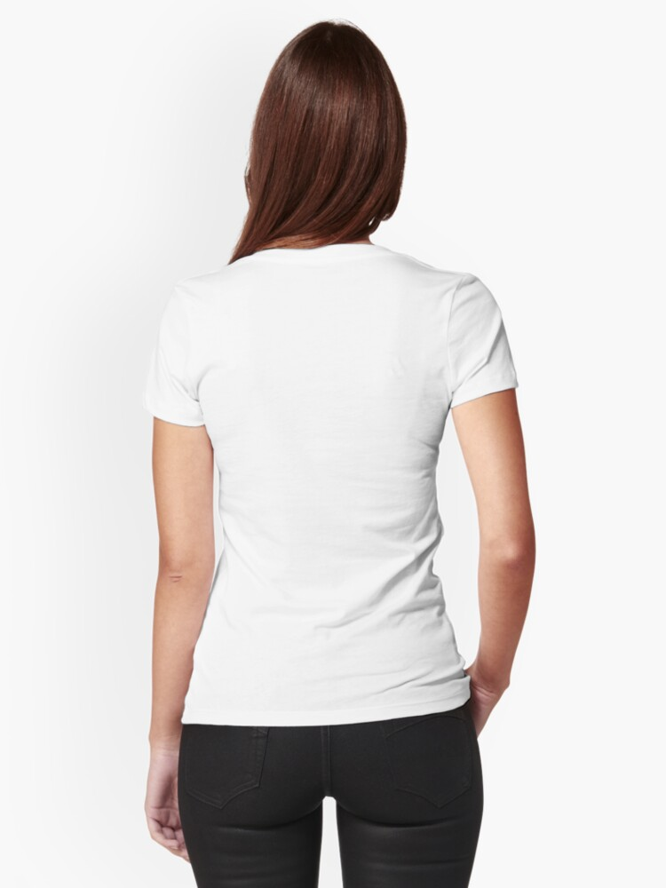Alternate view of Human Barcode Fitted T-Shirt