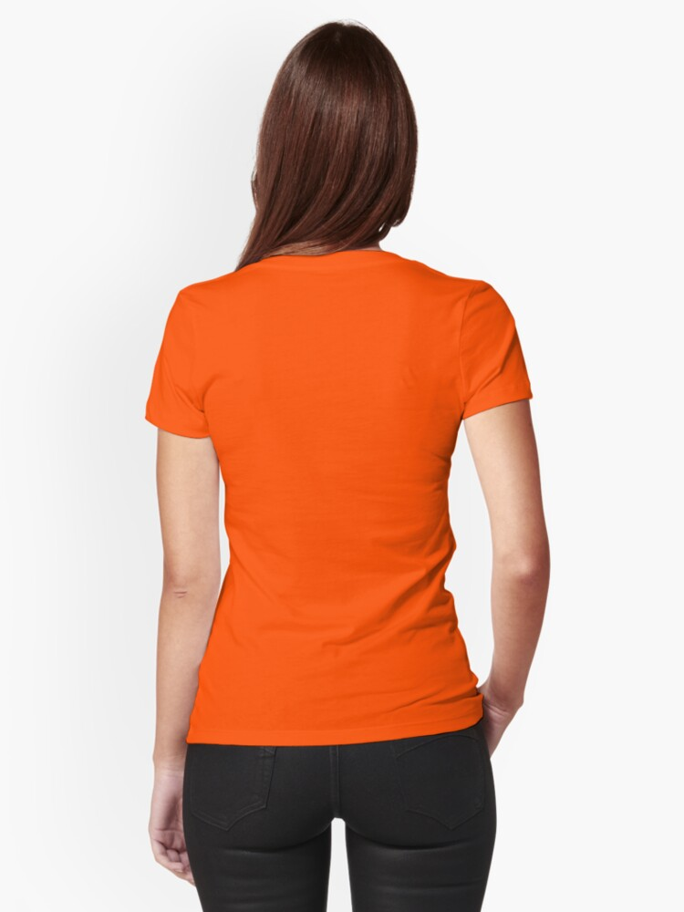 """Alternate view of NK - Women's Design """"Check out these bad boys"""" Fitted T-Shirt"""