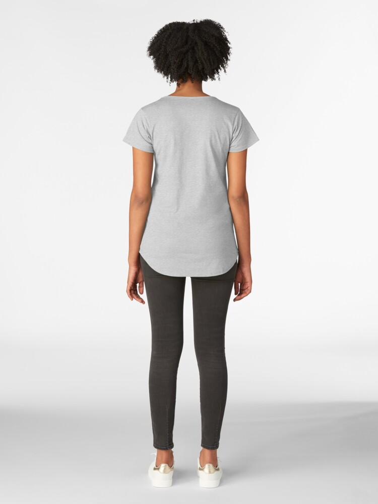 Alternate view of A Girl Sitting On a Bench Premium Scoop T-Shirt