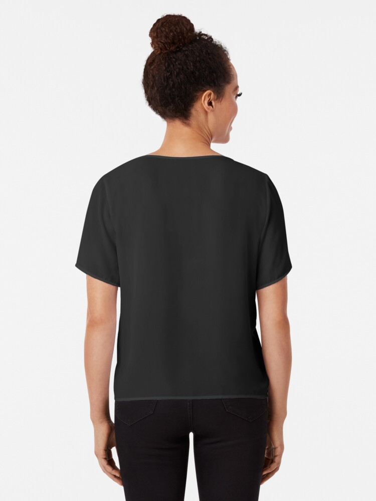 Alternate view of Bark Out Loud (Black Text) (Emoji) Chiffon Top