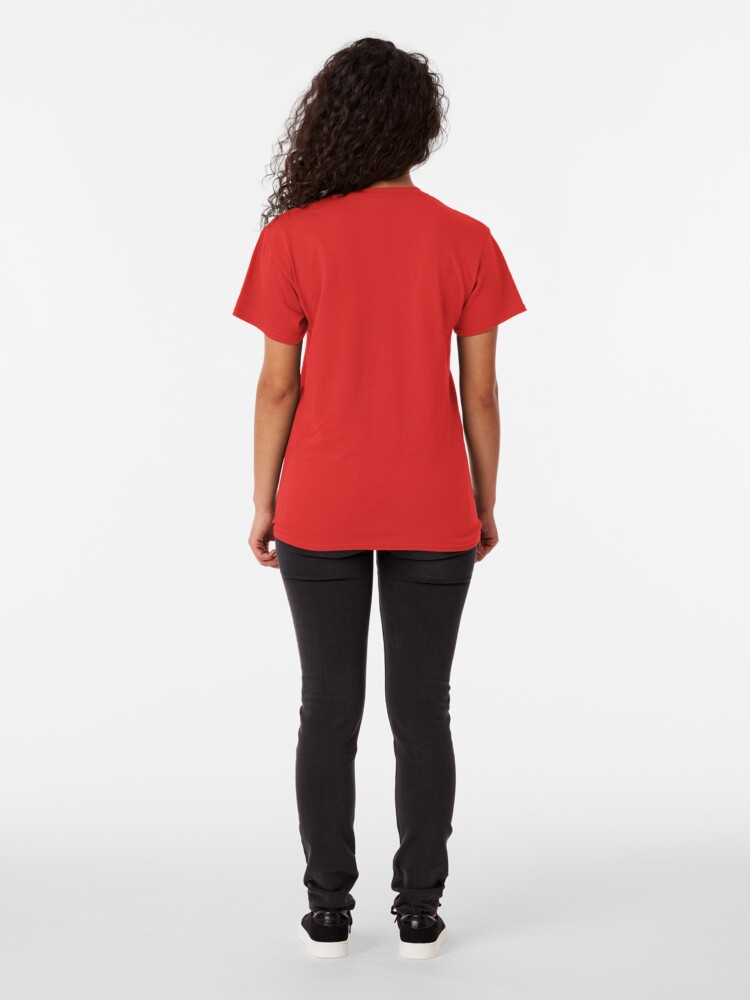 Alternate view of Optical lines — Red Classic T-Shirt