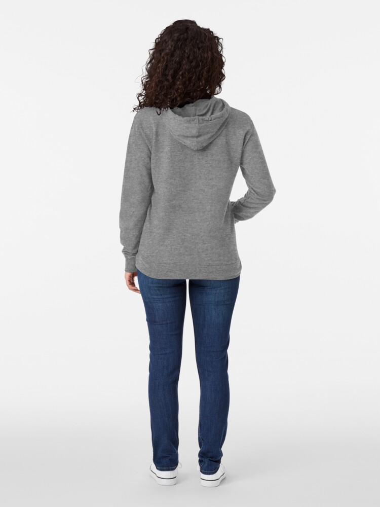Alternate view of Abstract Twirl Wave Lightweight Hoodie