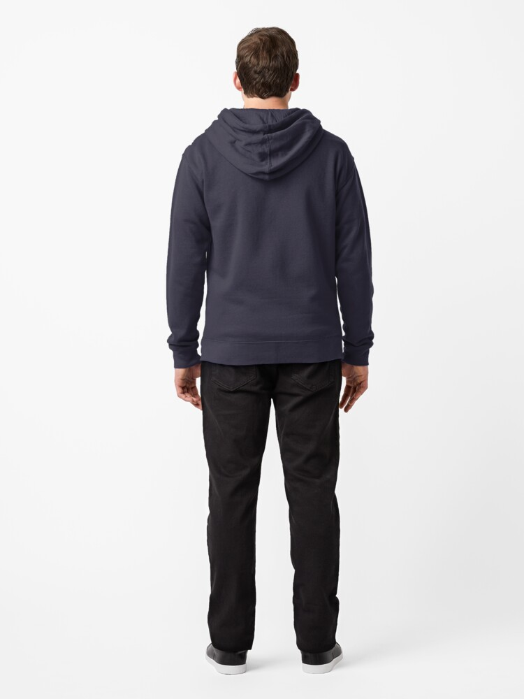 Alternate view of Angles of Textured Colors Zipped Hoodie