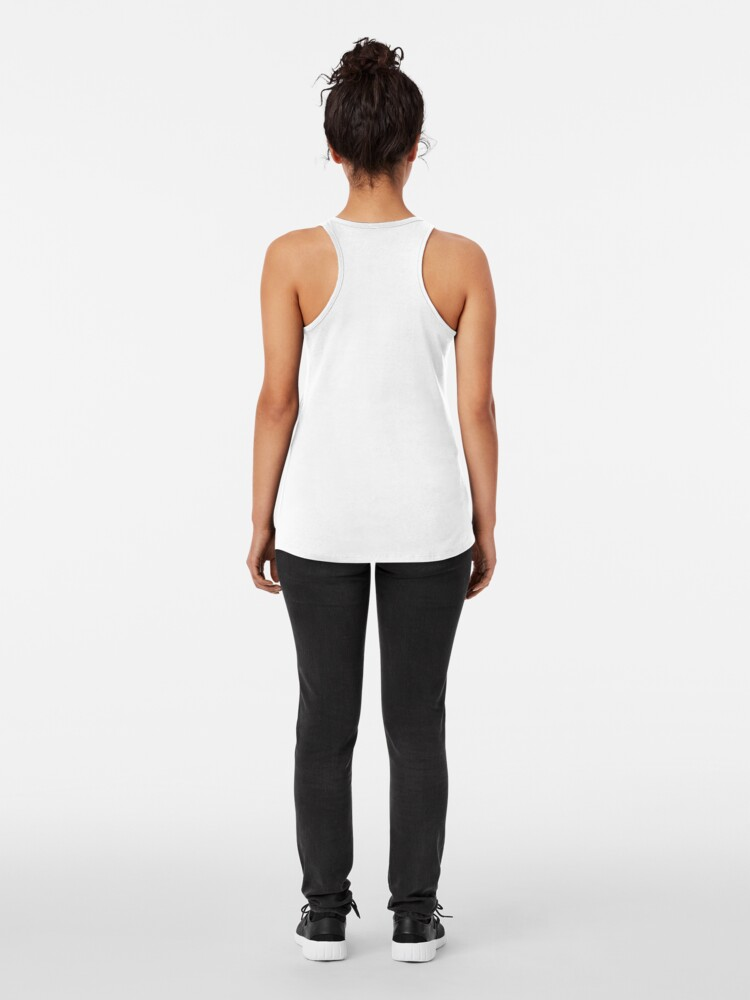 Alternate view of hand + triangle Racerback Tank Top