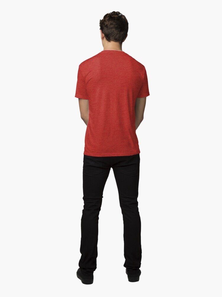 Alternate view of Hashtag #SayNOtoPuppyMills • Pawprint Heart Tri-blend T-Shirt
