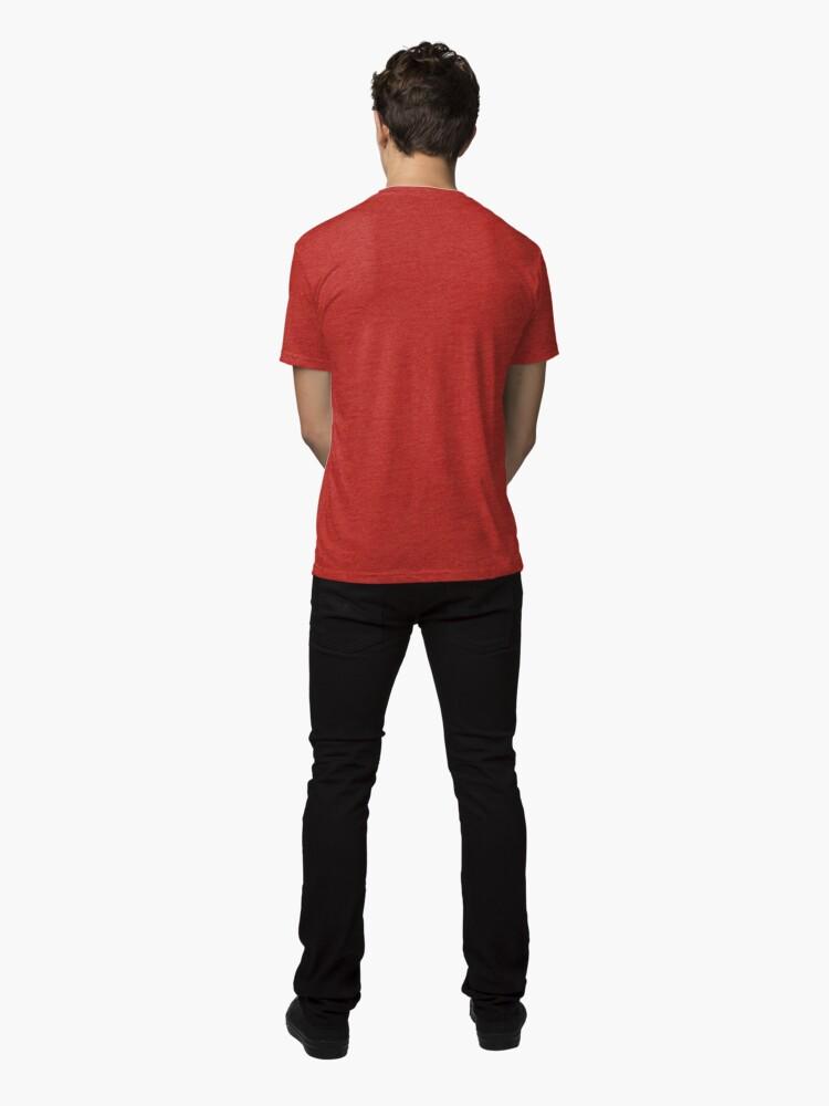 Alternate view of #film #photo #frame #abstract #negative #photography #strip #filmstrip #design #camera #texture #city #old #cinema #35mm #illustration #black #movie #collage #art #photograph #white #film strip Tri-blend T-Shirt