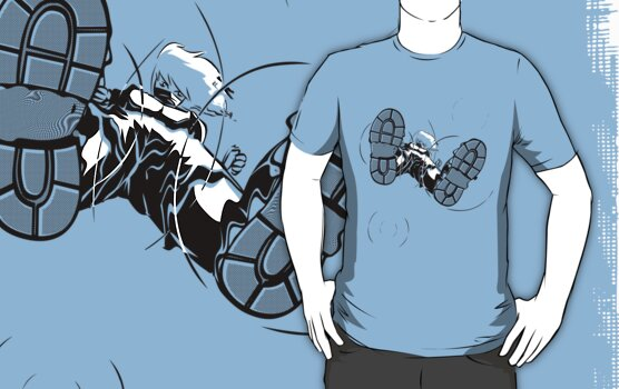 Ninjutsu! Art 21: walk on water! - T-Shirt by Japu